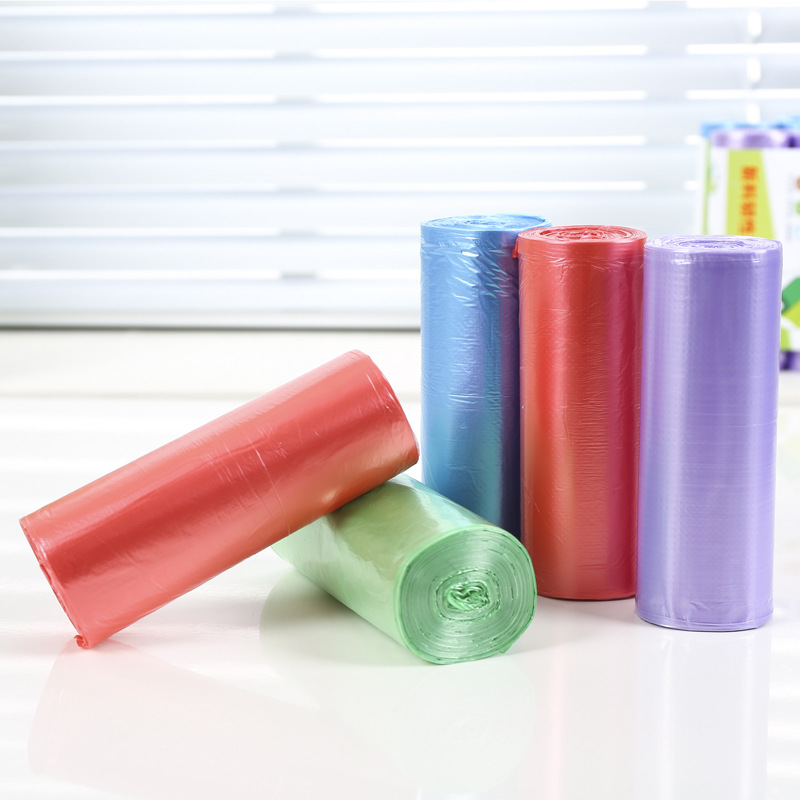 Biodegradable professional multicolor PE garbage bages with high quality