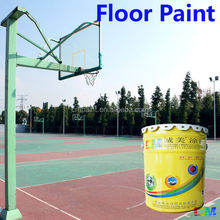 Floor paint- anti-slip floor paint for basketball court uv proof epoxy paint sports flooring