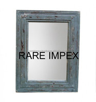 Hand Made Distressed grey wooden Mirror