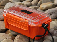 IP68 hand carrying waterproof key mobile phone computer chocolate storage ABS case box with clear lid