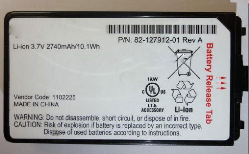 3,7V Li-Polymer Akku f/ür Scanner Symbol Typ 55-060117-05