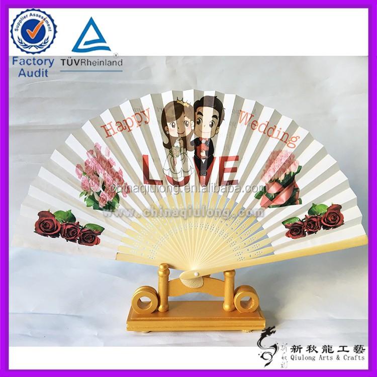 personnalis faveurs de mariage bambou ventilateur de papier pour dhtes - Eventail Personnalis Mariage