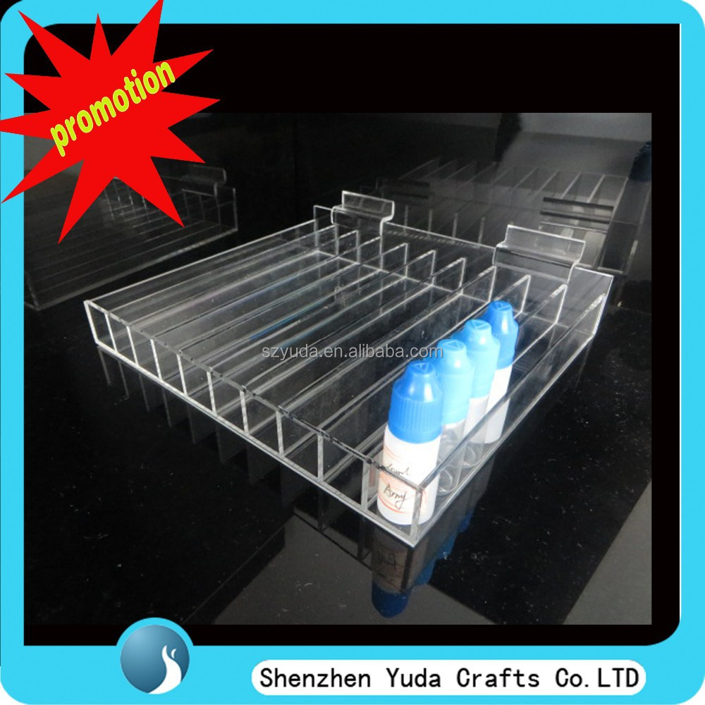 custom unique newest style e-juice rack with hinge display tray for e-cigars juice bottles e-liquid use manufacture in china ODM