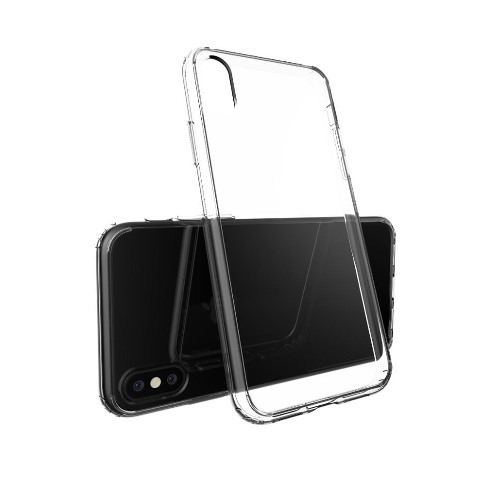 2017 Best sell Shockproof Transparent TPU+PC Cell Phone Case For Iphone and android