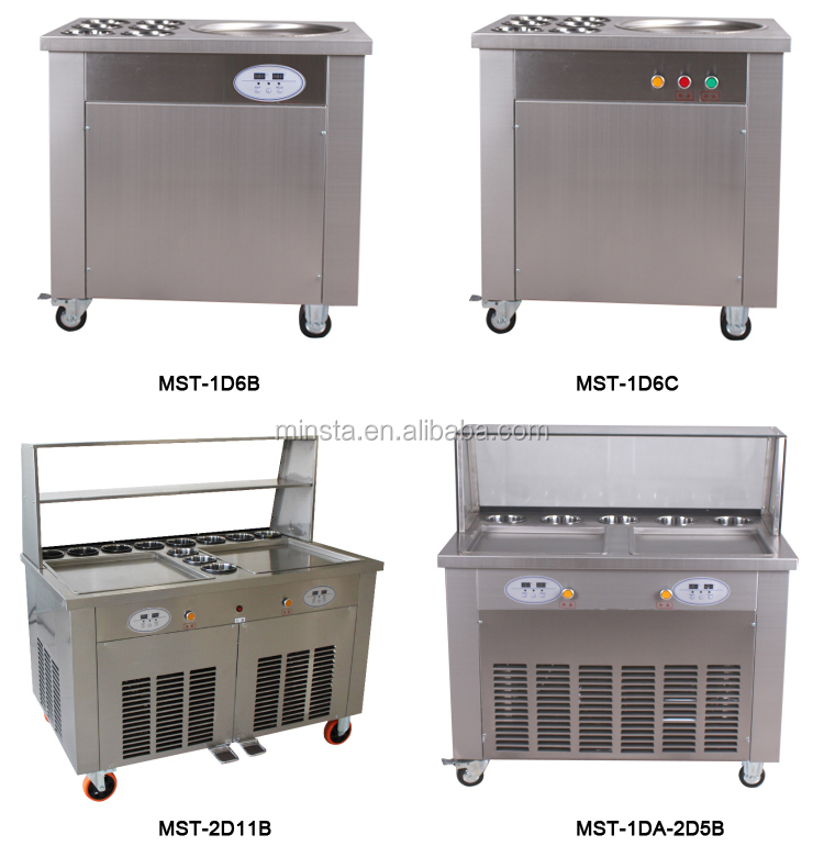 good price flat pan cold thailand style roll fry ice cream machine