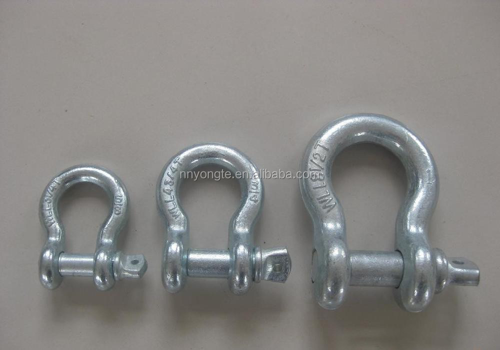 All size hot-dip galvanized steel screw shackle