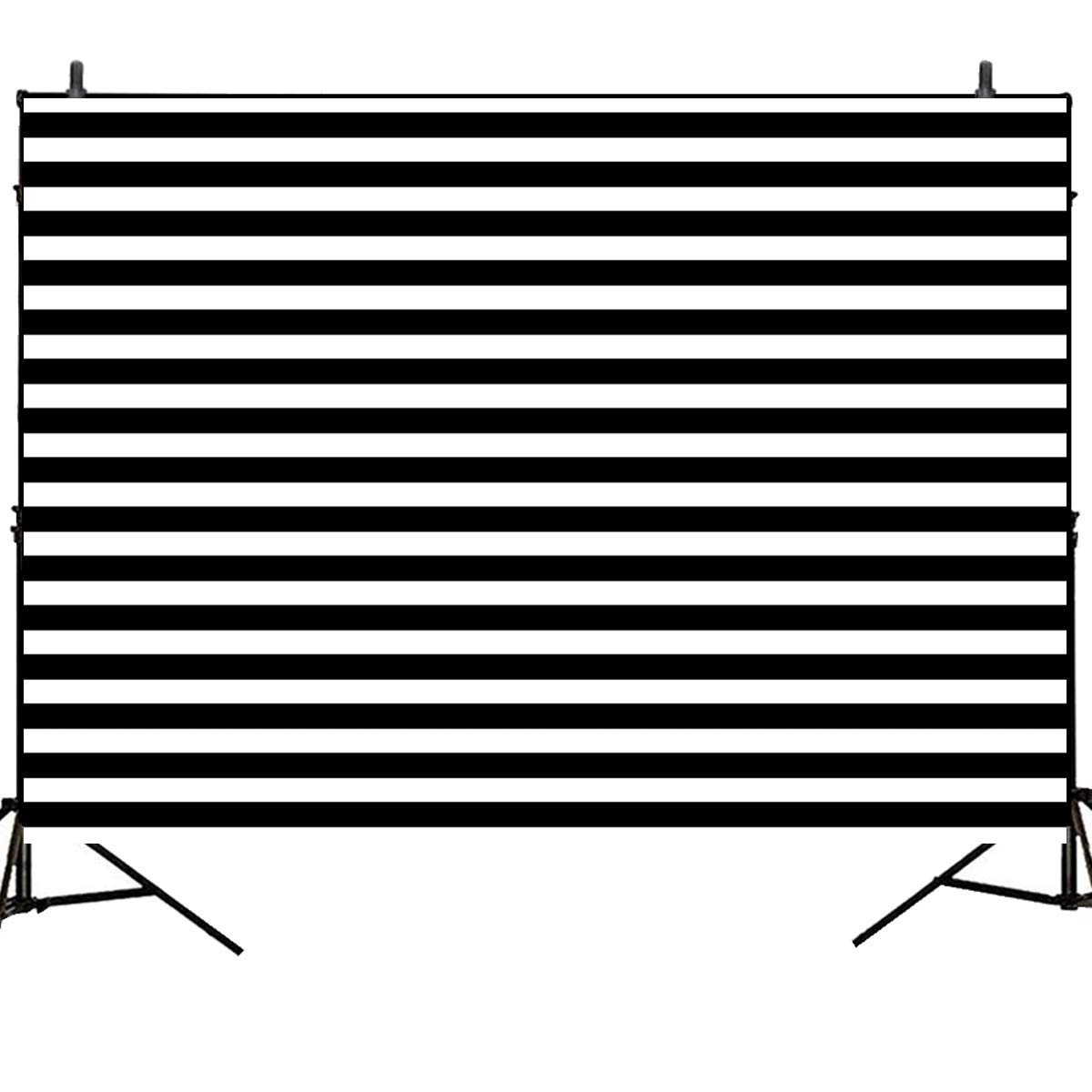 Mehofoto Birthday Backdrop for Photography Black and White Stripes Background 7x5ft Birthday Party Wedding Decoration Vinyl Backdrops