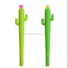 Cute Creative Student Stationery Plant Flowers Soft Silicone Gel Pen