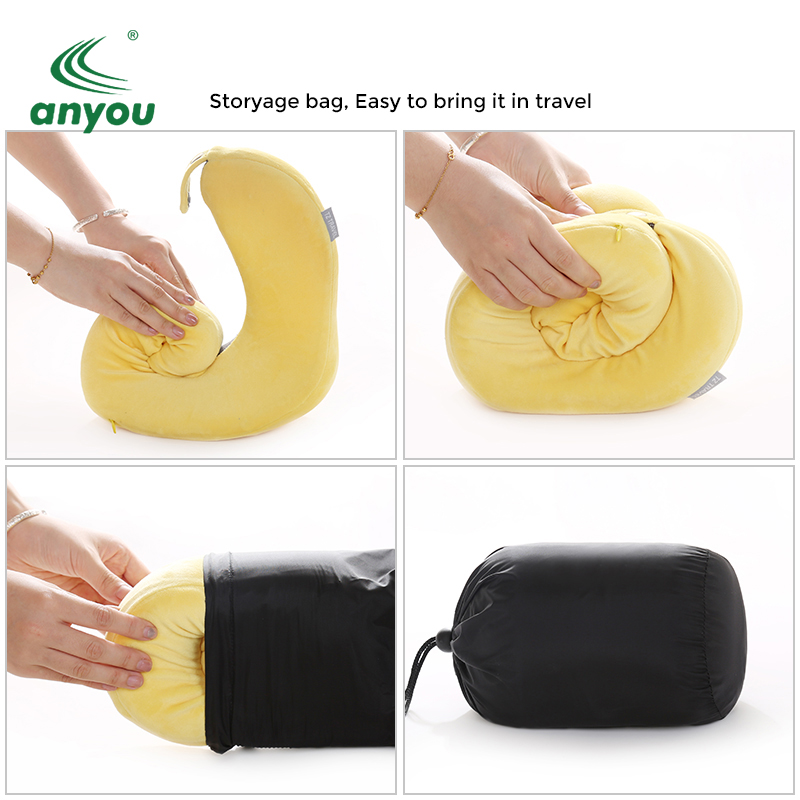 Wholesale high quality Head Rest Support Memory Foam travel neck pillow