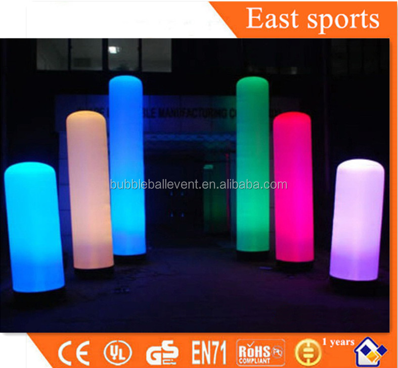 Free shipping hanging colorful attractive inflatable led nightclub decoration