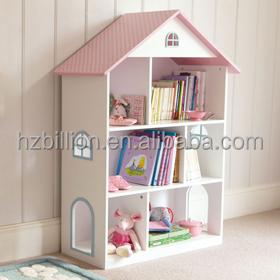 mooie witte europese stijl houten kids slaapkamer poppenhuis boekenkast kinderen meubels