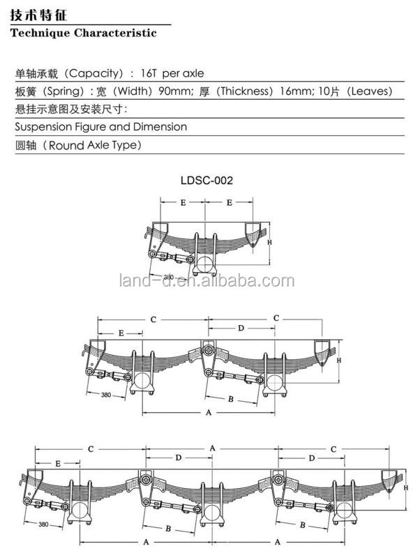 Heavy Truck Suspension System In Trailer Parts For York Semi ...