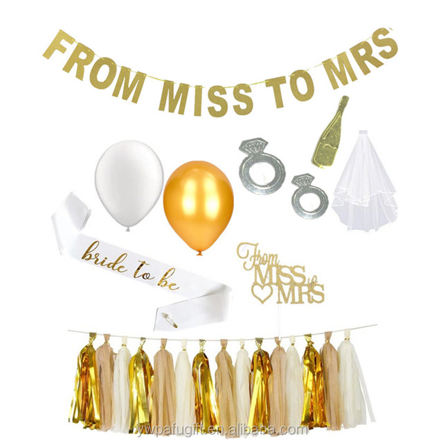 Bachelor Party Decorations Favors Supplies Hen Bridal Shower Gifts Miss To Mrs Kit Product On