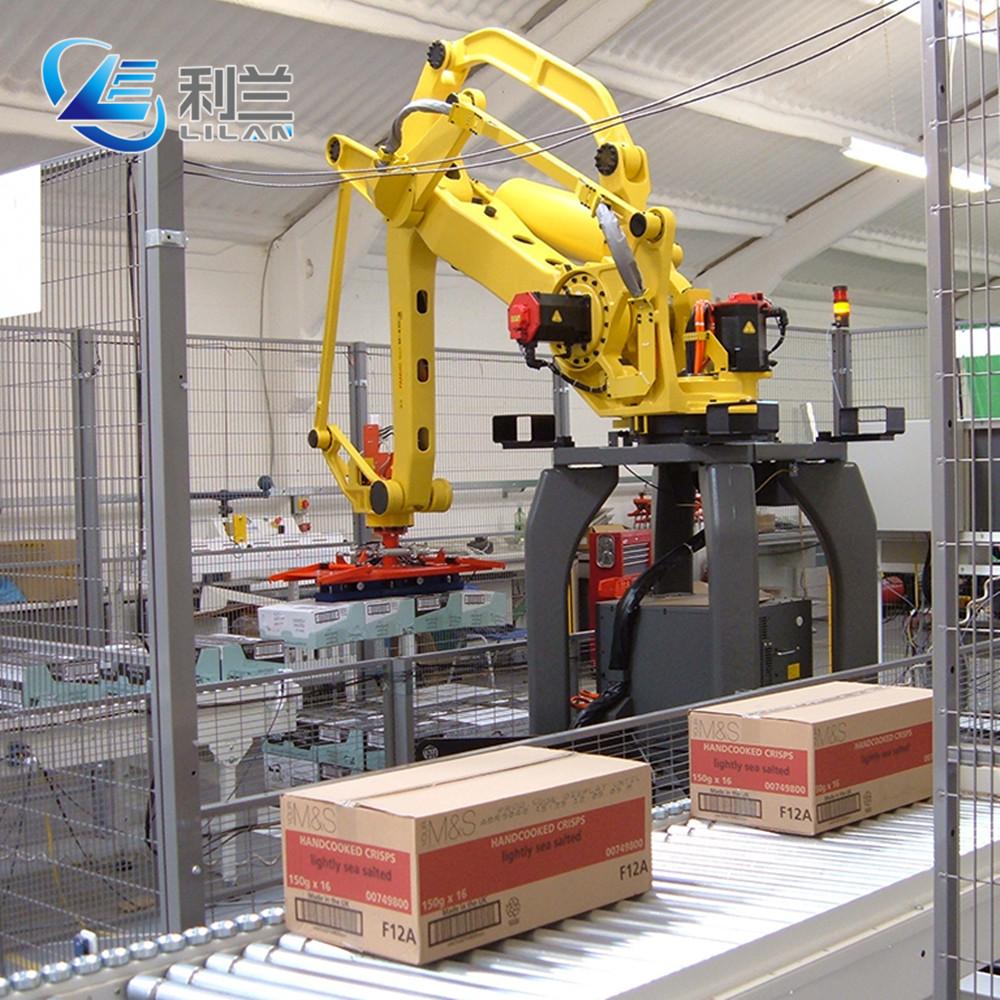 Industrie roboter palettierer in verpackung linie für lebensmittel industrie und Eisen trommel