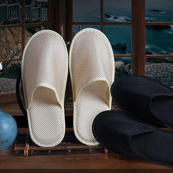 Factory supplier disposable hotel slippers mesh cloth ventilated summer hotel slippers