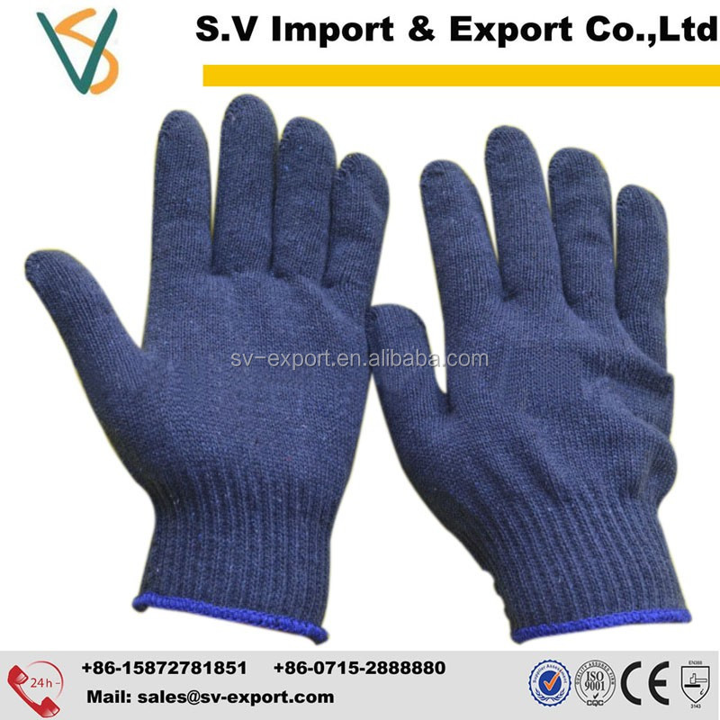 Blue Color Cotton Working Gloves