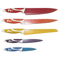 Colorful coating kitchen colorful non stick knife set