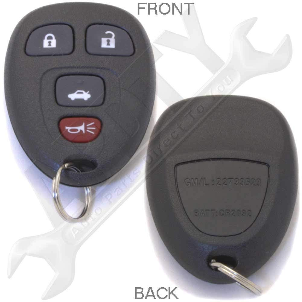 APDTY 24735 Keyless Entry Remote Key Fob Transmitter (Replaces GM 22733523 Only; Dealership or Locksmith Programming Required or See APDTY 24846 for a key fob with self programming tool)