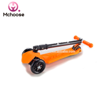 21st Hot Sale New product 4 Wheels 120 mm and 80mm New folding adjustable handle kids scooter three wheel foot/kick