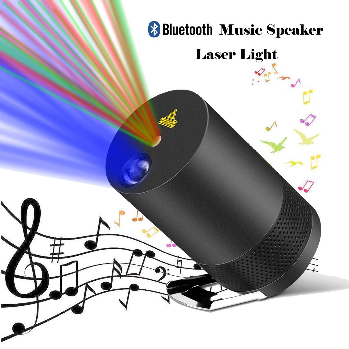 Projector Laser Lights,Party Laser Lights Projector For House with Bluetooth Speaker,Voice-Activated Rhythm Light Perfect for DJ Disco Party Home Show Birthday Party Stage and Camping
