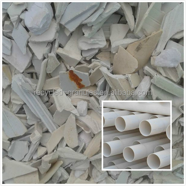 majored in regrind pvc pipe scrap, window scrap, recycled pvc resin