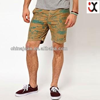 2017 Raw Denim Short Men Jeans For Sale Casual Short Jean Print