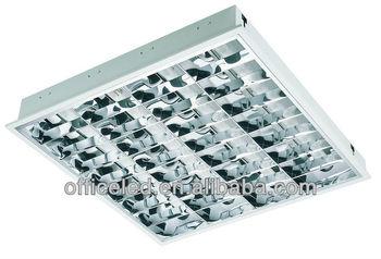 T8 4x18w Louver Type Fluorescent Fixtures - Buy Louver Type ...