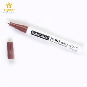 Hot selling 12 different colored japan safety ink colorful art permanent paint snowman marker pen for walls