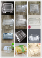 clear plastic clamshell bakery cake pastry cookies container boxes