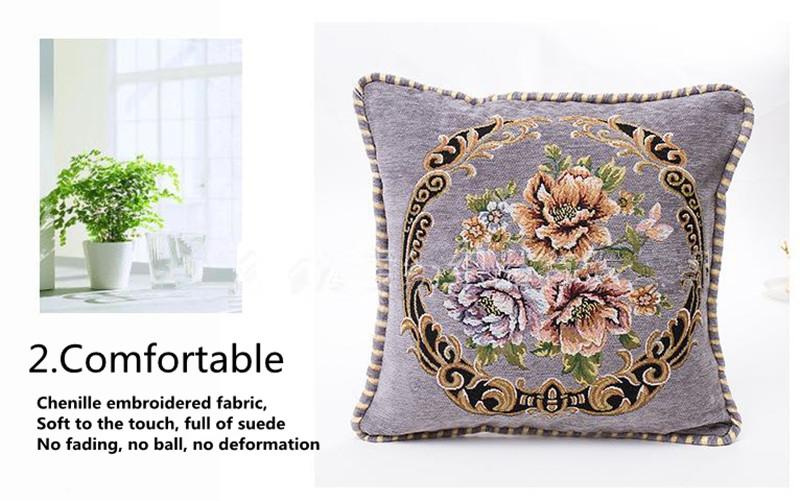 Style européen Jacquard housse de coussin housse de siège coussin maison/canapé/voiture décoration housse de coussin
