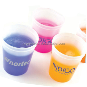 Cold Temperature sensor Reusable 16 oz color changing smooth stadium cup plastic cup with customer logo