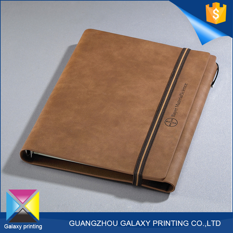 High quality <strong>printing</strong> manufacturer wholesale online Italy spiral bound leather notebook cover