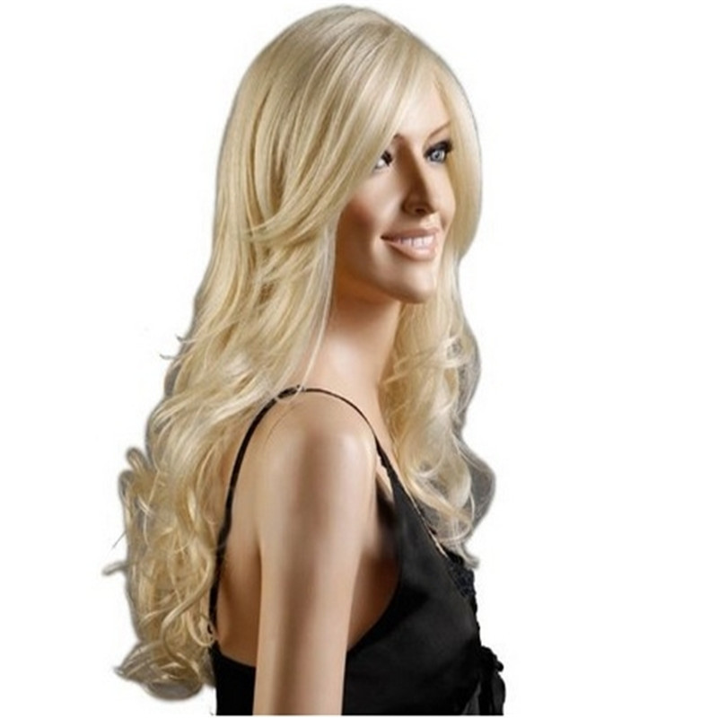 2015 lolita 70cm cheap wigs blonde wig curly female long blond wig cosplay  synthetic hair drag daddc8abd