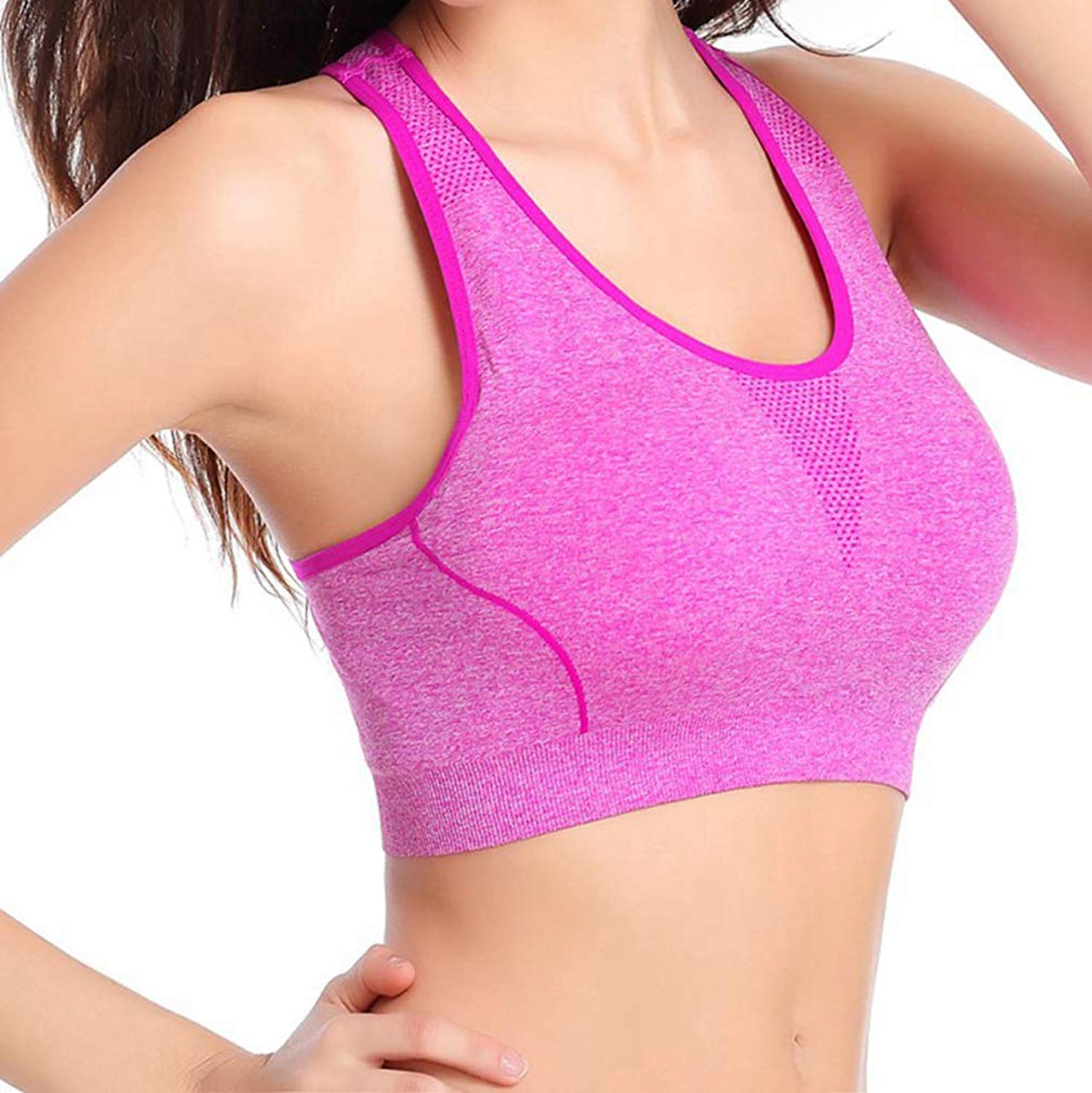 aaee91af52c4 Exercise & Fitness Sports Bras CTRICKER Seamless Sports Bra Breathable  Quick Drying Running High Elasticity Shockproof