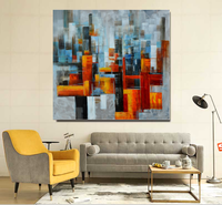 Wholesale Modern Cityscape Wall Decor Abstract Handmade Landscape Oil Painting