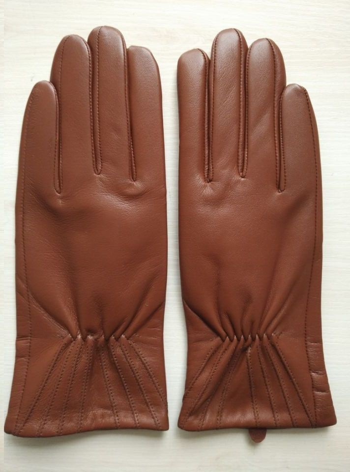 ladies red brown hotsale thin leather hand gloves