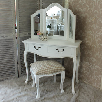 Dressing Table With Mirror Makeup Table French Wooden Dresser 3