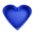 Custom Logo and design Blue color printing heart shape wedding box dot paper candy box