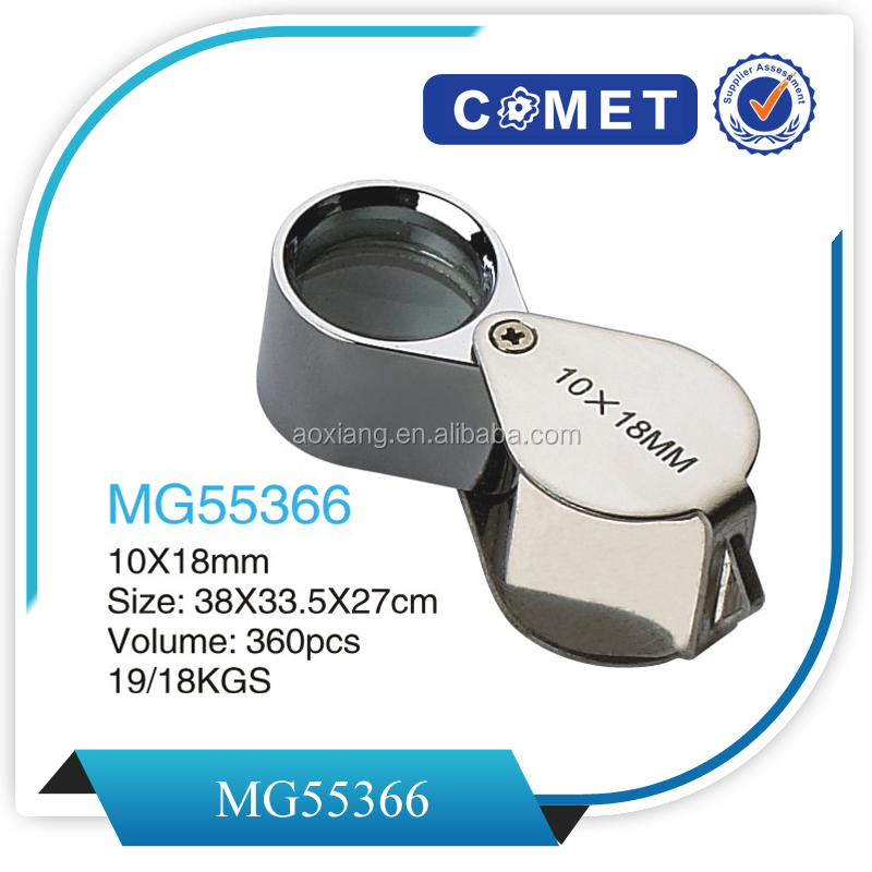 Diamond Magnifying Glass /eye loupe magnifier/triplet loupe/magnifying glass for diamond /10X 18mm MG55366