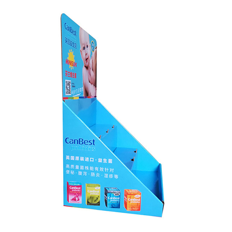 New Arrival counter cube show box paper display stand wholesale shelf