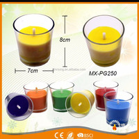 RISING wholesale home decoration custom glass jar candles