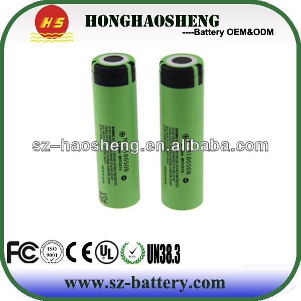 NCR Panasonic 3400mAh NCR18650B 3.7V rechargeable li-ion battery