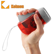 Translucent Case with 3 LED Whitelight Immediate Emergency Portable Hand-Powered Hand Crank Rechargeable Mini Led Flashlight