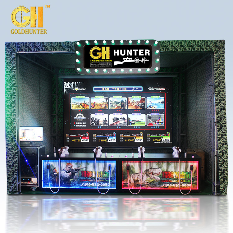 Goud Hunter Grote Schaal Game Zone Virtual Schieten Machine Schieten Gun
