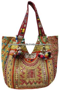 Indian Vintage Designer Handbags Handmade Textiles Ethnic Las Tote Bags Banjara And