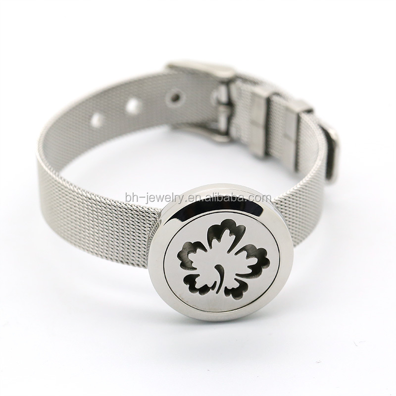 Hot Sale 316L Stainless Steel Magnet Aroma Ladies Bracelet Wrist Watch, Woman Bracelet