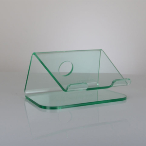 Custom Acrylic Angled Laptop Stand, Acrylic Notebook Counter Display