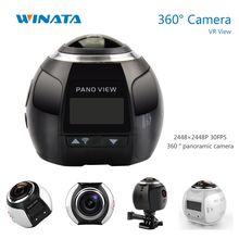 4K 360 Action Camera Wifi Mini Panoramic Camera 2448*2448 Ultra HD Panorama Camera 360 Degree Sport Driving VR Camera