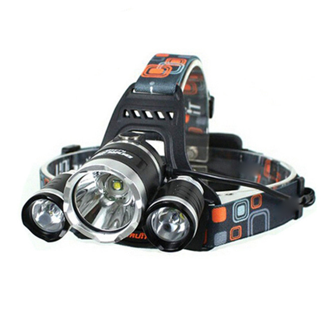 Enough in US warehouse hot seller LW-5000 XM-L 3*T6 10W 3-Mode 5000LM White Light Headlamp Black