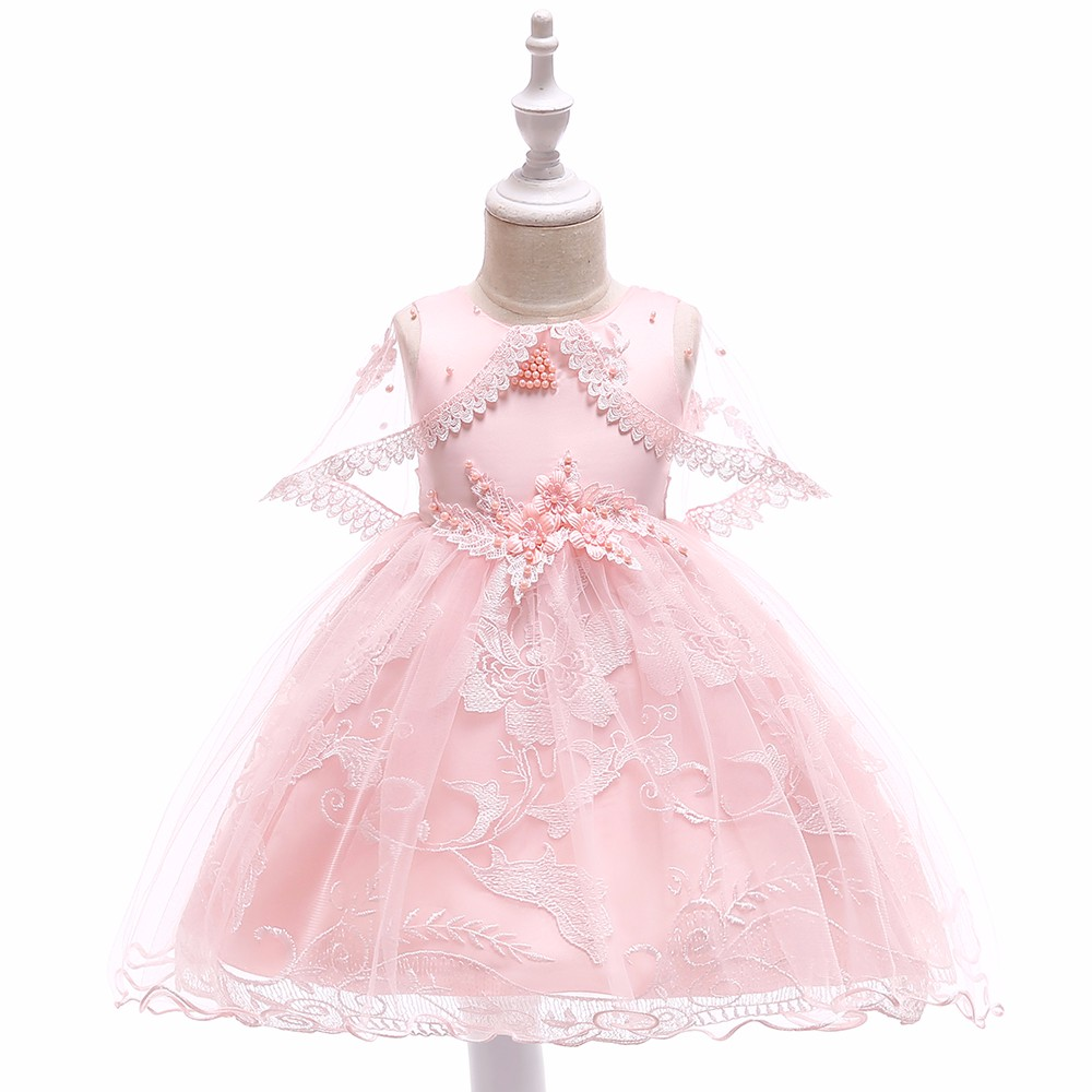 Peach Party Dress Baby Frock <strong>Designs</strong> <strong>Girls</strong> Lace Dresses Beautiful Clothes For Little <strong>Girl</strong> L5065